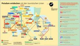 Touristischer LinienPlan von Potsdam