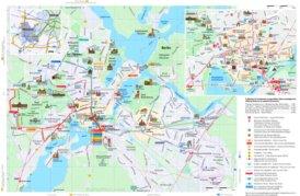 Touristischer stadtplan von Potsdam