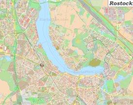 Große detaillierte stadtplan von Rostock
