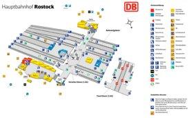 Rostock Hauptbahnhof plan