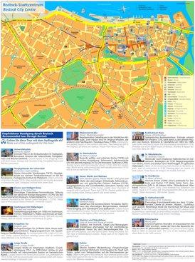 Touristischer stadtplan von Rostock