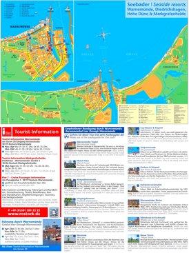 Touristischer stadtplan von Warnemünde
