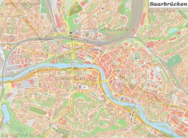 Große detaillierte stadtplan von Saarbrücken