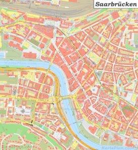 Karte von Saarbrücken-Altstadt