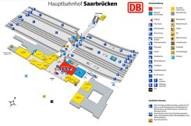 Saarbrücken Hauptbahnhof plan