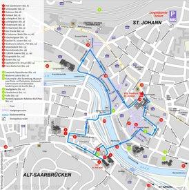 Saarbrücken Innenstadtplan