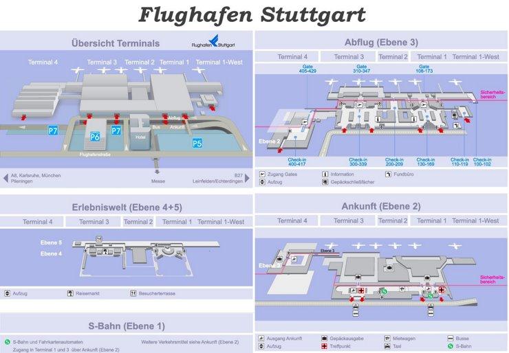 Flughafen Stuttgart Plan