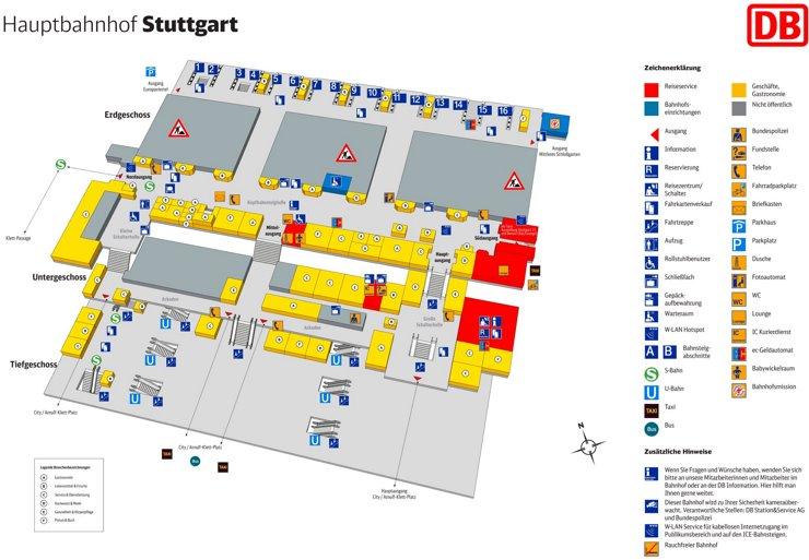 Stuttgart Hauptbahnhof plan