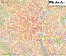 Große detaillierte stadtplan von Wiesbaden