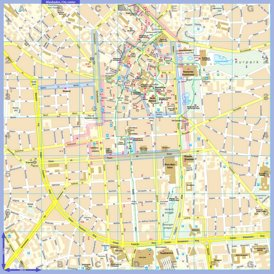 Touristischer stadtplan von Wiesbaden
