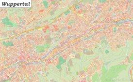 Große detaillierte stadtplan von Wuppertal