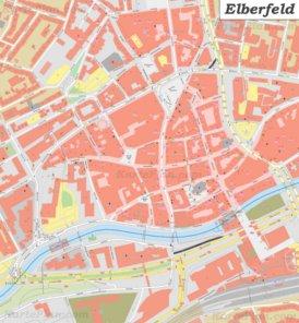 Stadtplan Elberfeld - Wuppertal