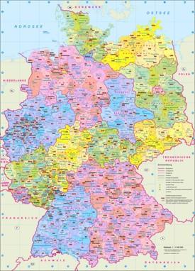 Verwaltungskarte von Deutschland
