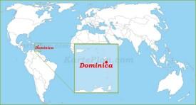 Dominica auf der Weltkarte