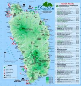 Dominica touristische karte