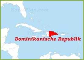 Dominikanische Republik auf der karte Karibiks
