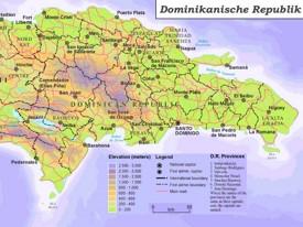 Physische landkarte von Dominikanische Republik