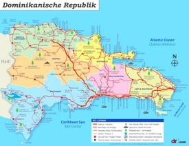 Straßenkarte Dominikanische Republik