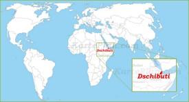 Dschibuti auf der Weltkarte