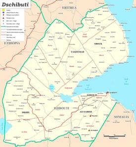 Große detaillierte karte von Dschibuti