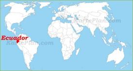 Ecuador auf der Weltkarte