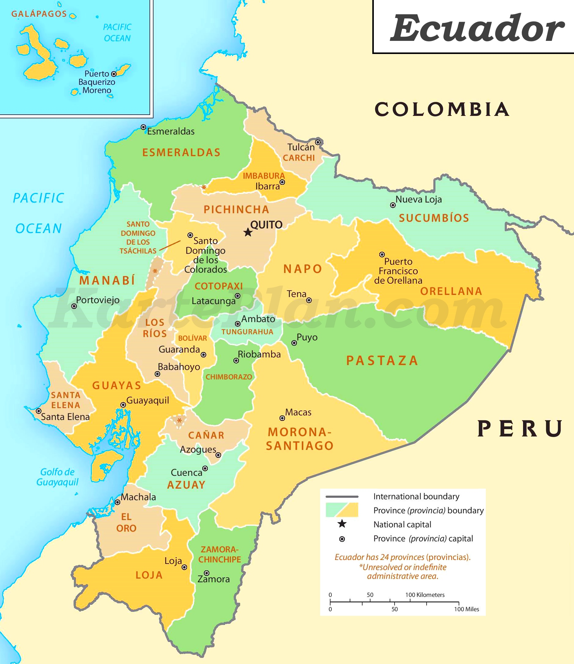 Ecuador Maps Printable Maps Of Ecuador For Download