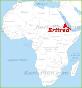 Eritrea auf der karte Afrikas