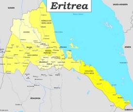 Eritrea politische karte
