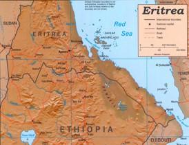 Straßenkarte Eritrea