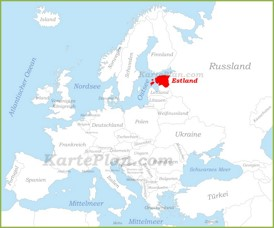 Estland auf der karte Europas