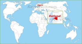 Estland auf der Weltkarte