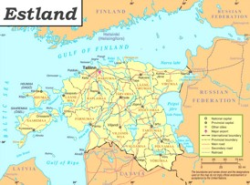 Estland politische karte