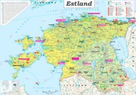 Große detaillierte karte von Estland