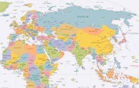 Eurasien politische karte