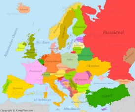 Karte Von Europa.Europa Karte Landkarten Von Europa