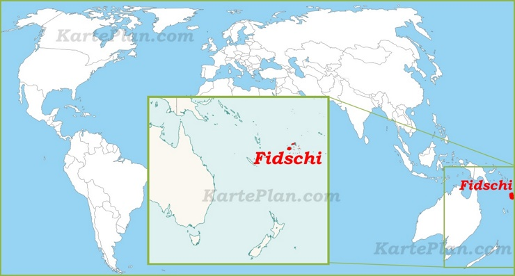 Fidschi auf der Weltkarte