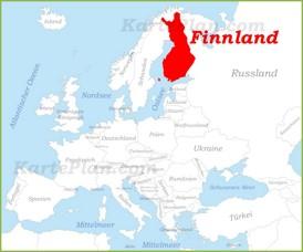 Finnland auf der karte Europas