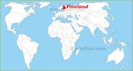 Finnland auf der Weltkarte