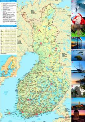 Straßenkarte Finnland