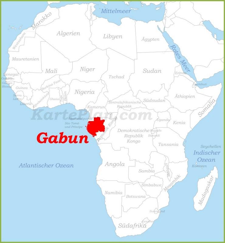 Gabun auf der karte Afrikas