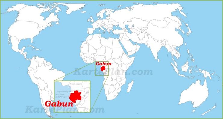 Gabun auf der Weltkarte