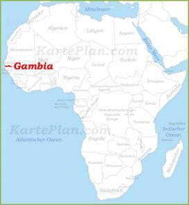 Gambia auf der karte Afrikas