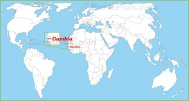 Gambia auf der Weltkarte