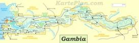 Große detaillierte karte von Gambia