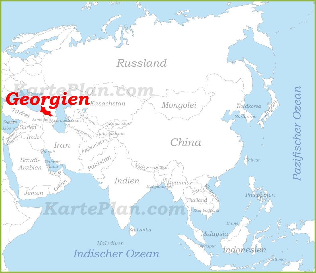Georgien Karte.Georgien Auf Der Karte Asiens
