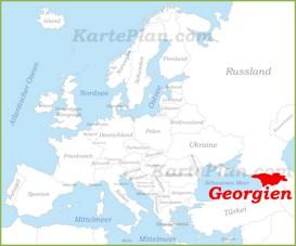 Georgien auf der karte Europas