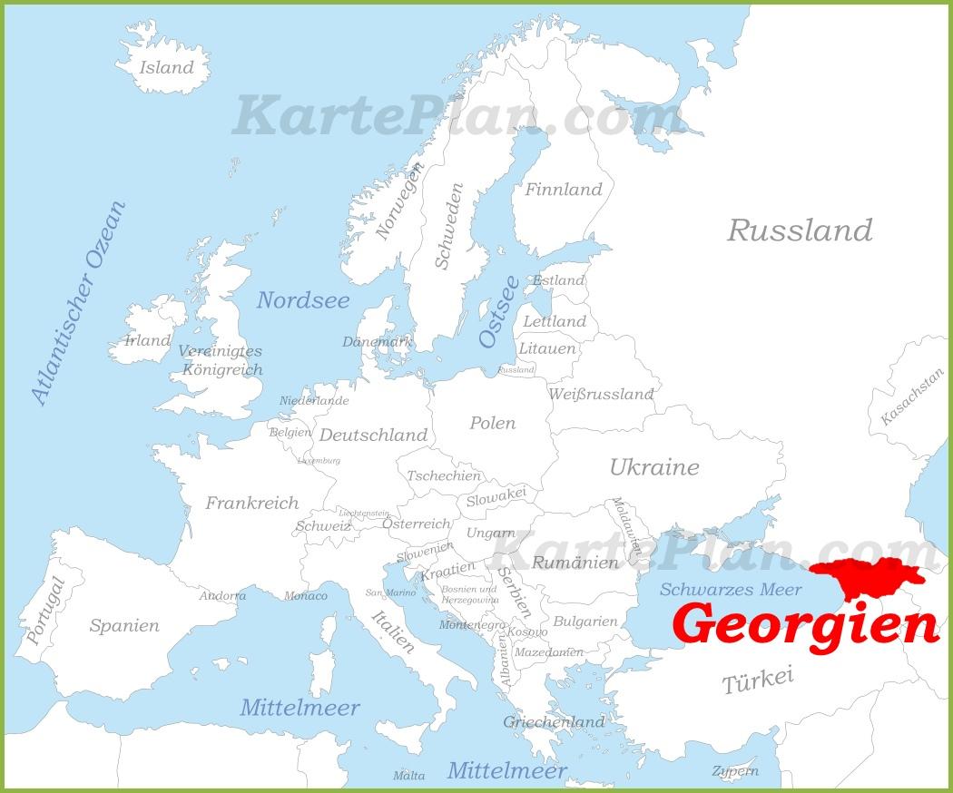Georgien Karte.Georgien Auf Der Karte Europas