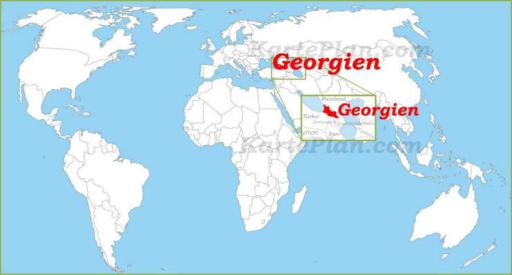 Georgien auf der Weltkarte