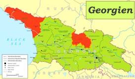 Georgien politische karte