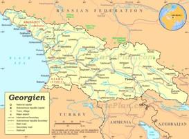 Straßenkarte Georgien